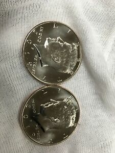 2019 P&D KENNEDY HALF DOLLAR 2 COIN SET   UNCIRCULATED COINS FROM US MINT