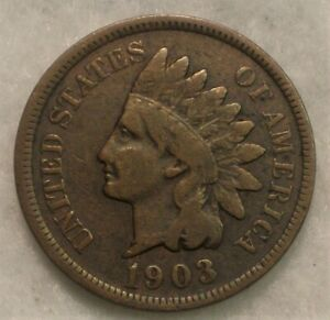 1903 INDIAN HEAD CENT. PARTIAL LIBERTY