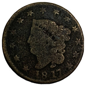 1817 LARGE CENT CORONET HEAD COLLECTOR COPPER