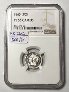 Click now to see the BUY IT NOW Price! NICKEL THREE CENT PIECES 1865 P NGC PF 66 CAMEO