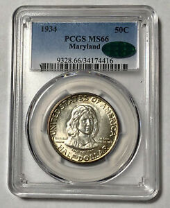 Click now to see the BUY IT NOW Price! CLASSIC COMMEMORATIVE MARYLAND TERCENTENARY 1934 P PCGS MS 66  CAC MARYLAND