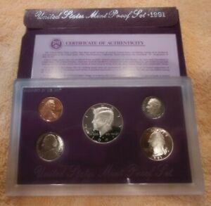 1991 S UNITED STATES US MINT 5 COIN PROOF SET WITH ORIGINAL MINT PACKAGING
