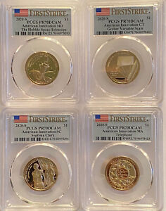 Click now to see the BUY IT NOW Price! 2020 S AMERICAN INNOVATION FOUR COIN PROOF SET PCGS PR70 DCAM FIRST STRIKE