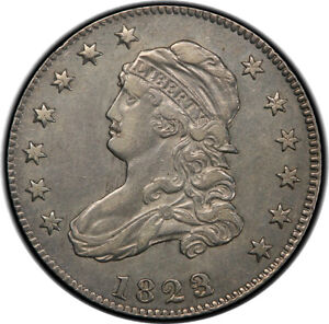 Click now to see the BUY IT NOW Price! 1823/2 25C BROWNING PLATE COIN PCGS XF45
