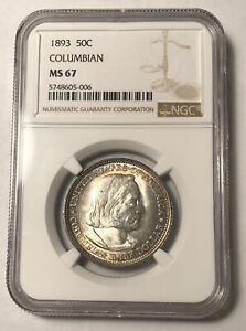 Click now to see the BUY IT NOW Price! CLASSIC COMMEMORATIVE WORLD'S COLUMBIAN EXPOSITION HALF DOLLAR 1893 P NGC MS 67