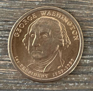 2007 P GEORGE WASHINGTON DOLLAR COIN $1   UNC UNCIRCULATED   FIRST YEAR OF ISSUE
