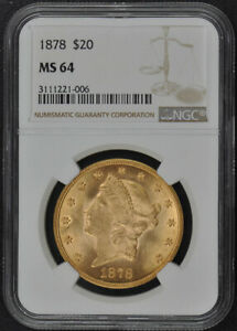 Click now to see the BUY IT NOW Price! 1878 LIBERTY DOUBLE EAGLE TYPE 3 $20 NGC MS64 SUPER PQ