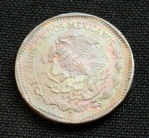 MEXICO BEAUTIFUL RAINBOW TONED UNCIRCULATED 5 PESOS 1981 WORLD FOREIGN COIN