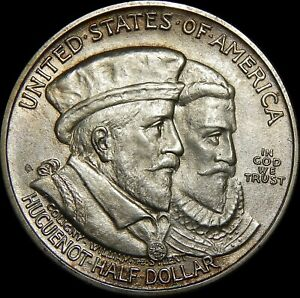 1924 HUGUENOT COMMEMORATIVE HALF DOLLAR   30A