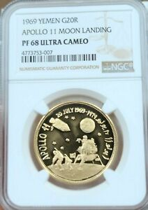 Click now to see the BUY IT NOW Price! 1969 YEMEN GOLD 20 RIYALS G20R APOLLO 11 MOON LANDING NGC PF 68 ULTRA CAMEO