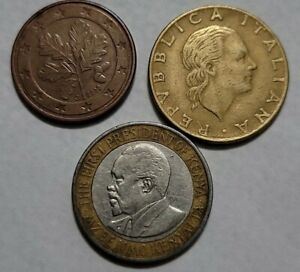 LOT OF WORLD COINS   KENYA ITALY GERMANY