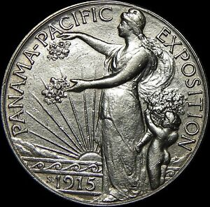Click now to see the BUY IT NOW Price! 1915 S PANAMA PACIFIC COMMEMORATIVE HALF DOLLAR   52A