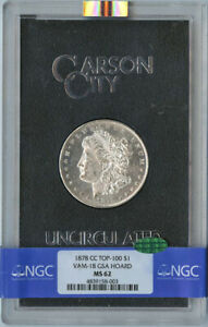 Click now to see the BUY IT NOW Price! 1878 CC TOP 100 MORGAN DOLLAR VAM 18 GSA HOARD S$1 NGC MS62  CAC  .