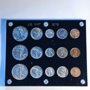 Click now to see the BUY IT NOW Price! 1942 US MINT SET PSD W GORGEOUS NICKEL TONE. BRILLIANT UNCIRCULATED.BEAUTIFUL