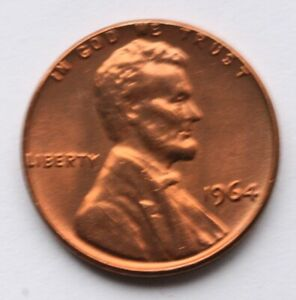 1964 LINCOLN MEMORIAL CENT CHOICE BU PENNY US COIN C 1
