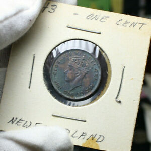 1943  ONE CENT NEWFOUNDLAND CANADA NICE HIGH GRADE