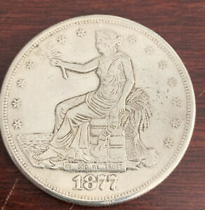 1877 CC TRADE DOLLAR EXTRA FINE TO ALMOST UNCIRCULATED P 69