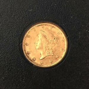 1853 P $1 GOLD LIBERTY HEAD GOLD DOLLAR TYPE 1 PRE CIVIL WAR BETTER PHILADELPHIA