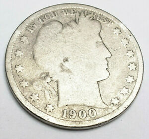 1900 P BARBER HALF DOLLAR    G   GOOD     90  SILVER      FREEE SHIPPING