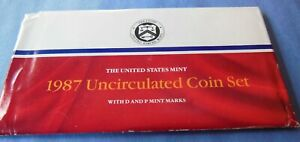 1987 P AND D UNITED STATES MINT UNCIRCULATED COIN SET ORIGINAL MINT PACKAGING