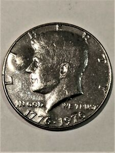 1976  BICENTENNIAL KENNEDY HALF DOLLAR.ERROR COIN LAMINATION BUBBLES