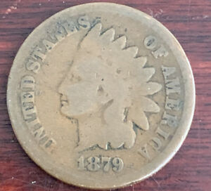 1879 INDIAN HEAD CENT COIN P 64