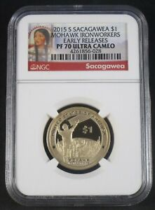 2015 S SACAGAWEA $1 NGC PF70 ULTRA CAMEO EARLY RELEASES PORTRAIT LABEL
