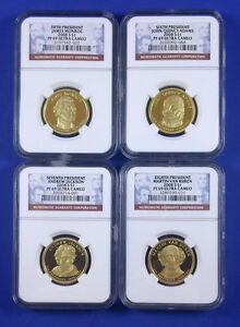 2008 S PRESIDENTIAL DOLLAR 4 COIN SET NGC PF69 ULTRA CAMEO