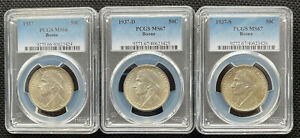 Click now to see the BUY IT NOW Price! 1937 MS66;1937D NS67;1937S MS67 50C DANIEL BOONE BICENTENNIAL SILVER COINS SET
