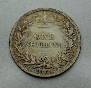 Click now to see the BUY IT NOW Price!  OLD 1881 GREAT BRITAIN BRITISH SILVER 1/  SHILLING COIN VICTORIA NICE