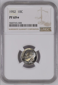 Click now to see the BUY IT NOW Price! 1952 PROOF ROOSEVELT DIME 10C NGC CERTIFIED PR PF 69 STAR