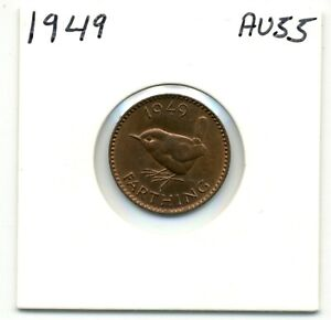 GREAT BRITAIN. FARTHING. 1949 CHOICE ABOUT UNCIRCULATED