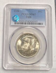 Click now to see the BUY IT NOW Price! CLASSIC COMMEMORATIVE ELGIN ILLINOIS CENTENNIAL 1936 P PCGS MS 67   ELGIN