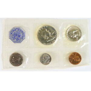 Click now to see the BUY IT NOW Price! 1955 P PHILADELPHIA UNITED STATES MINT PROOF SET 5 COINS NO ENVELOPE