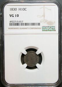 1830 CAPPED BUST HALF DIME NGC VG 10
