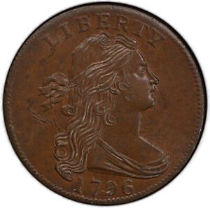 Click now to see the BUY IT NOW Price! 1796 1C SINGLE LEAVES REVERSE OF 1795 S 93 R.3 PCGS MS64 BN