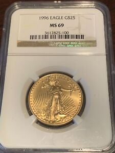 Click now to see the BUY IT NOW Price! BETTER DATE 1996 $25 AMERICAN GOLD EAGLE NGC MS69   LOOKS PERFECT  BOOK VAL 2600