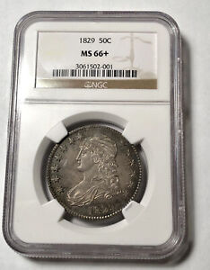 Click now to see the BUY IT NOW Price! HALF DOLLARS CAPPED BUST LETTERED EDGE 1829 P NGC MS 66