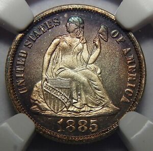 Click now to see the BUY IT NOW Price! 1885 NGC PF68 CAMEO SEATED LIBERTY DIME