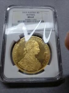 Click now to see the BUY IT NOW Price! 1915 AUSTRALIA FRANZ JOSEPH I 4 DUCAT GOLD COIN ANACS MS67 CAMEO [BRAND NEW]