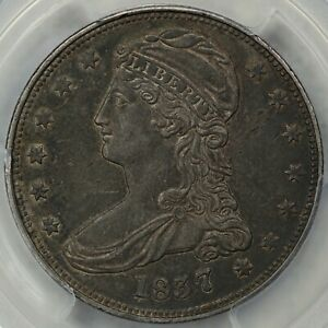 1837 REEDED EDGE CAPPED BUST HALF DOLLAR PCGS XF45 CHOICE ORIGINAL SURFACES