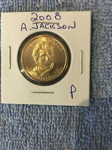 US ONE DOLLAR COIN PRESIDENT SERIES ANDREW JACKSON P 1829 1837
