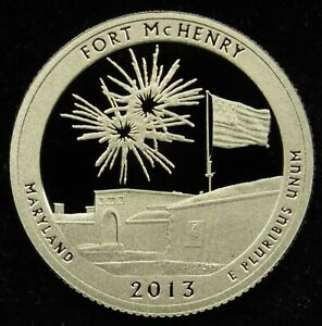 2013 S DEEP CAMEO CLAD PROOF AMERICA THE BEAUTIFUL FORT MCHENRY QUARTER  C02