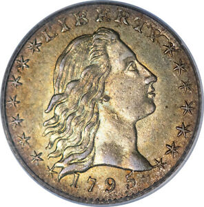 1795 H10C PCGS MS63 CAC GREEN LABEL OLD HOLDER