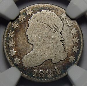 1824/2 NGC G4 CAPPED BUST DIME
