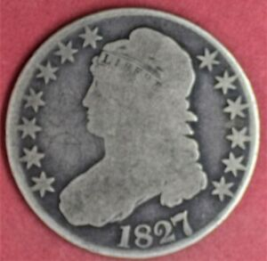 1827 CAPPED BUST HALF G