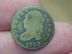 1823 CAPPED BUST DIME FULL DATE DETAILS TONED 198 YEAR OLD DIME TONED
