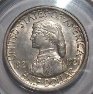 1921 MISSOURI COMMEMORATIVE ORIGINAL HALF DOLLAR  OGH. PCGS AU 55  5C45