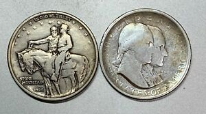 1925 STONE MOUNTAIN & 1926 SESQUICENTENNIAL PAIR OF KEY COMMEMORATIVE HALVES