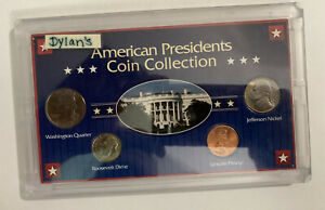 AMERICAN PRESIDENTS 4 COIN COLLECTION JEFFERSON LINCOLN ROOSEVELT WASHINGTON